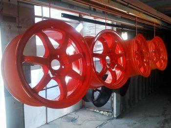 технология порошковой окраски дисков
